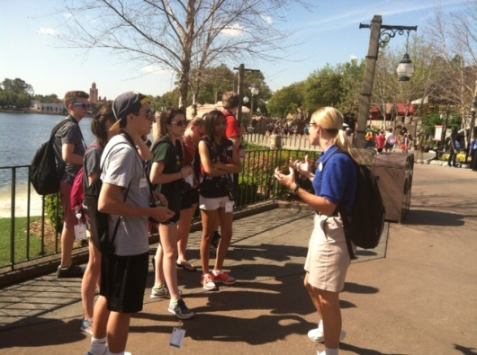 Coppell High School's KCBY students attending the 2014 Student Television Network Convention spent their last day in Orlando, Fla. participating in the Disney Youth Education Series program at Epcot.
